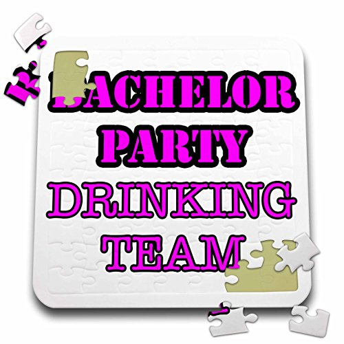 Stag,Bachelor Party - Bachelor Party Drinking Team Pink - 10x10 Inch Puzzle (pzl_261063_2) by 3dRose