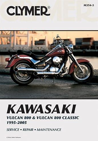 kawasaki vulcan 800 classic 95 05 clymer motorcycle repair rh amazon com kawasaki vulcan 800 service manual 2001 kawasaki vulcan 800 owners manual
