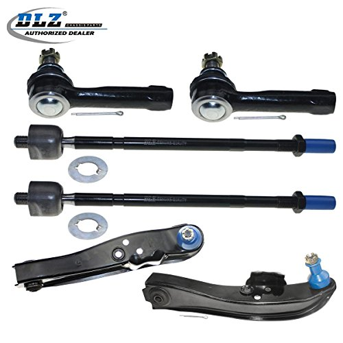 240sx Suspension (DLZ 6 Pcs Front Suspension Kit-2 Front Lower Control Arm & Ball Joint Assembly, 2 Inner 2 Outer Tie Rod End for 1989 1990 1991 1992 1993 1994 Nissan 240SX)