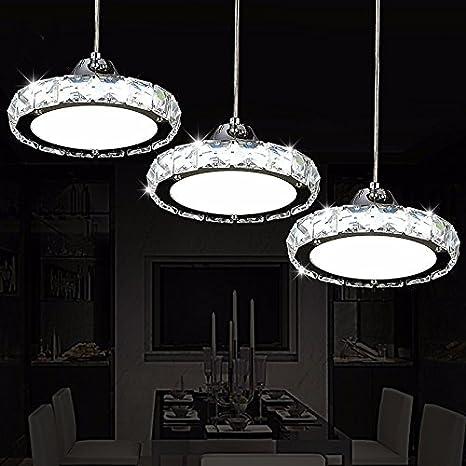 Led luci Ristorante Ristorante Crystal lampadari tre moderni rotondo ...