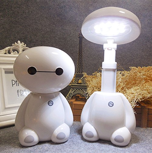 Lighting LED Desk Lamp Baymax lamp, White, 1 Pack - Square Folding Patio Table
