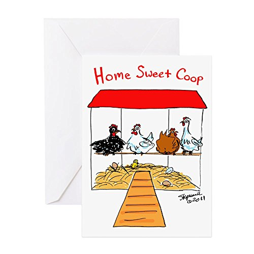 Price comparison product image CafePress - Home Sweet Coop - Greeting Card, Note Card, Birthday Card, Blank Inside Matte