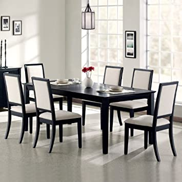 Superior Coaster Lexton 7 Piece Rectangular Dining Set, Black