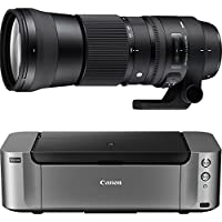 Sigma 150-600mm F5-6.3 DG OS HSM Contemporary Zoom Lens for Canon EF + PIXMA Pro-100 Wireless Color Professional Inkjet Printer