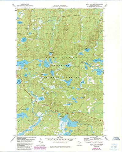 YellowMaps Slate Lake East MN topo map, 1:24000 Scale, 7.5 X 7.5 Minute, Historical, 1981, Updated 1985, 27.23 x 21.53 in - -