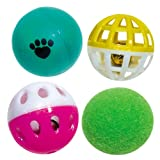 Pet Supply Imports - Ball Assortment 4-Pack Cat Toy
