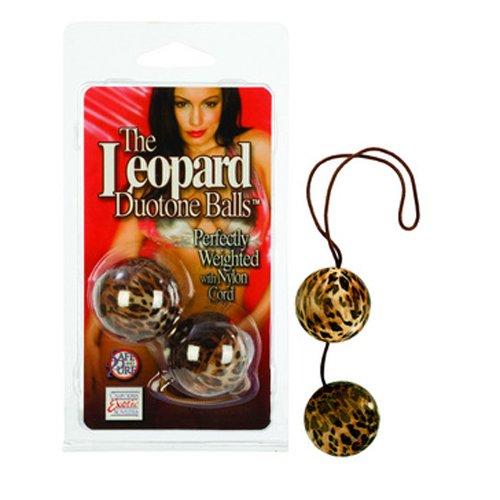 CalExotics Duotone Balls – Ben Wa Vaginal Kegel Weights – Pelvic Floor Exercise – Adult Sex Toys – Leopard