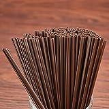 JULAN Disposable Plastic Coffee Stirrer Straw Drink Stir Sticks for Bars Cafes Restaurants Home Use (6.5 inch,Brown,1000pcs)