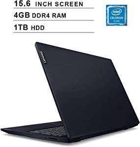 2020 Newest Lenovo Premium Ideapad S145 15.6 Inch Laptop (Intel Celeron 4205U 1.80GHz, 4GB DDR4 RAM, 1TB HDD, Intel UHD 610, WiFi, Bluetooth, HDMI, Webcam, Windows 10) (Blue)