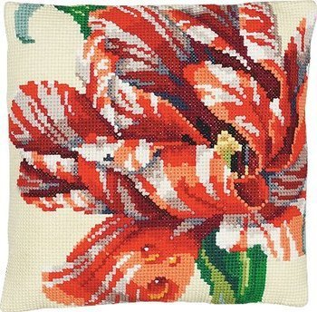 Janlynn Parrot Tulip Big Stitch Pillow Cross Stitch Kit