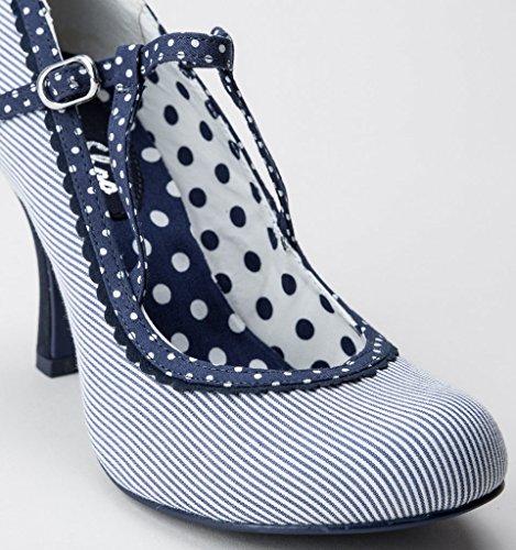 Ruby Shoo Jessica Womens Court Shoes Blue XYKKJzk9