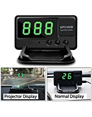 VJOYCAR C60 Universal Hud Heads up Display Car GPS Speedometers Digital Speed Projector Windshield Projection Film Over Speedo Alarm for Cars & Other Vehicles