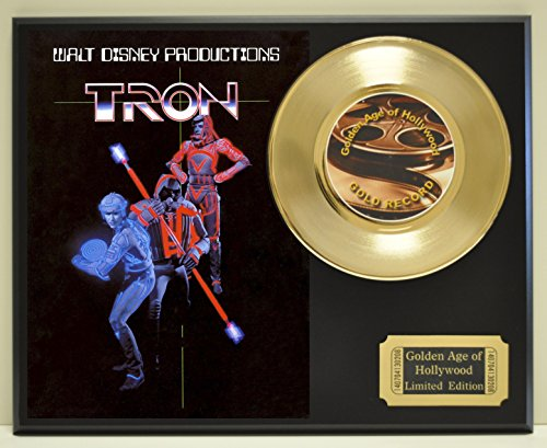 Tron Limited Edition Gold 45 Record Display. Only 500 made. Limited quanities. FREE US SHIPPING