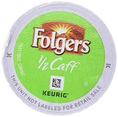 Folgers Half Caff Coffee, Keurig K-Cups, 18 Count