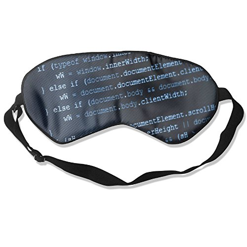 Sleep Mask Information Technology Eye Cover Blackout Eye Masks,Soothing Puffy Eyes,Dark Circles,Stress,Breathable Blindfold for Women -