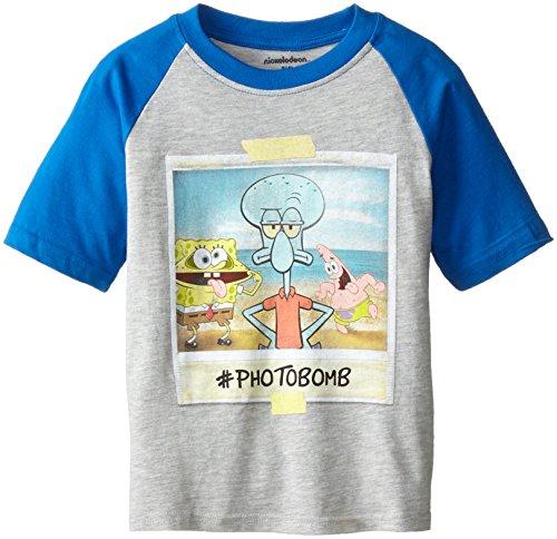 Nickelodeon Spongebob Squarepants Little Boys' T-Shirt Shirt, Heather/Royal, 5/6