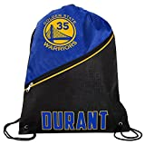 FOCO Golden State Warriors High End Diagonal Zipper Drawstring Backpack Gym Bag - Kevin Durant #35