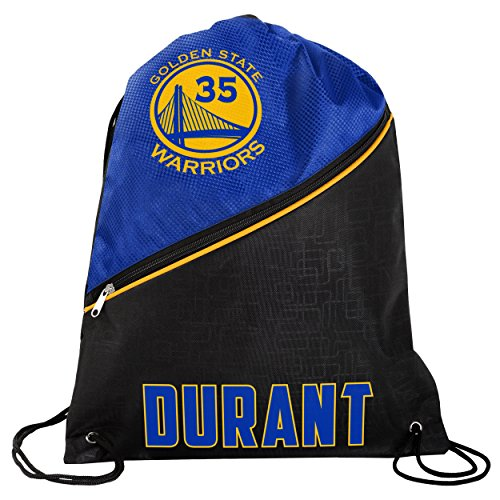 f0a2a5c7a18a FOCO Golden State Warriors High End Diagonal Zipper Drawstring Backpack Gym  Bag - Kevin Durant  35