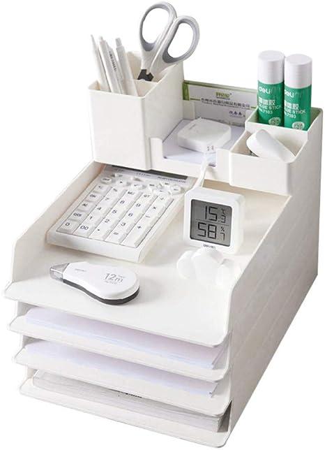 aloiness Multifonction Porte-stylo Creux en M/étal Rangements Convient aux Gar/çons et aux Filles Seau de Stockage de Bureau