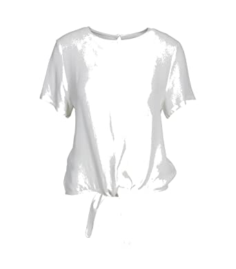 Just Female Damen Shirt Cecilie in Weiss  Amazon.de  Bekleidung f406c1619a