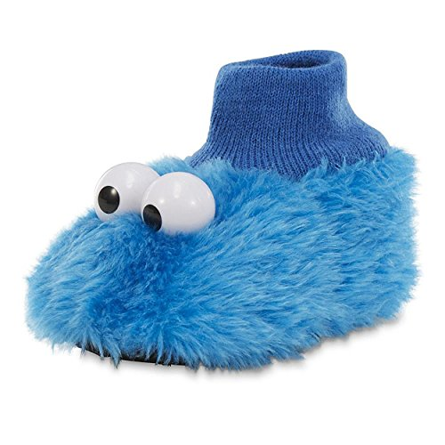Sesame Street Kids' Elmo Puppet Slipper (Large 9/10) (Cookie Toddler)