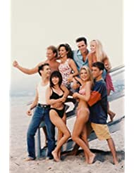 Beverly Hills 90210 24x36 Poster iconic pose of cast on beach