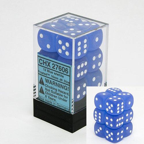 おすすめネット Chessex Dice d6 of Sets: B0011WMALI 16mm Frosted Blue with White - 16mm Six Sided Die (12) Block of Dice B0011WMALI, 花と雑貨リトルガーデン:a5d7e05f --- cliente.opweb0005.servidorwebfacil.com