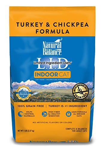 Turkey Formula (Natural Balance Limited Ingredient Diets Dry Cat Food for Indoor Cats, Turkey & Chickpea (1 Pack), 5 lb)