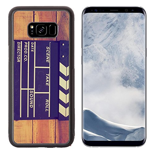 Liili Premium Samsung Galaxy S8 Plus Aluminum Backplate Bumper Snap Case IMAGE ID 32251281 clapper board on wood background vintage color tone (Director Snap Board)
