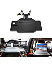 JaneDream Car Laptop Desk Auto Foldable with Phone Holder Fits Most Vehicles Steering Wheel & Backseat for Travel Dining Studying (Gray)