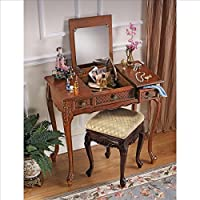 Design Toscano Princess Caroline Vanity Table in Mahogany