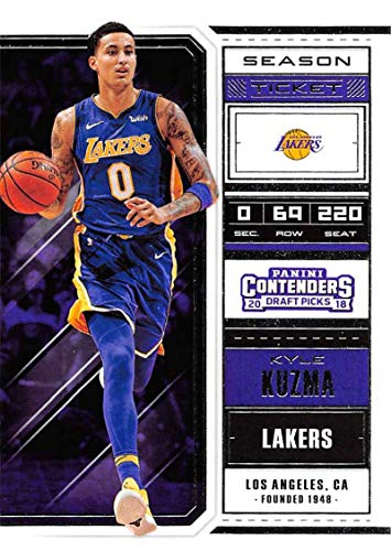 Basketball NBA 2018-19 Panini Contenders Draft Picks Season Ticket Variation #37 Kyle Kuzma #37 NM+ Lakers