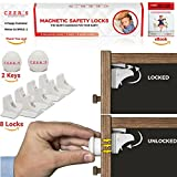 how lazy can you get - Magnetic Cabinet Locks Child Safety | 8 Baby Proof Locks with 2 Keys for Cabinets, Kitchen Drawers or Doors | Easy Magnet Proofing & No Drill Required | BONUS 3M Adhesive Childproof Stickers