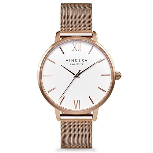 Vincero The Eros Mesh Dial Stainless Steel Ladies Watch RG-MSH-E06