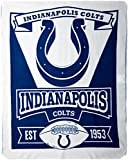"NFL Indianapolis Colts Marque Printed Fleece Throw, 50"" x 60"""