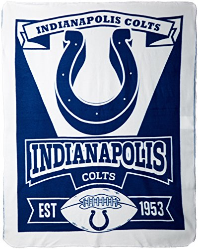 NFL Indianapolis Colts Marque Printed Fleece Throw, 50-inch by 60-inch