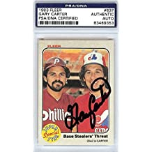 Gary Carter Autographed Signed 1983 Fleer Card #637 Montreal Expos - PSA/DNA Certified - Baseball Slabbed Autographed Cards