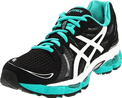 ASICS Women's GEL-Nimbus 13 Running Shoe,Black/White/Green,11.5 M US
