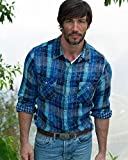 Ryan Michael Men's Indigo Lake Travis Plaid Shirt Indigo Large