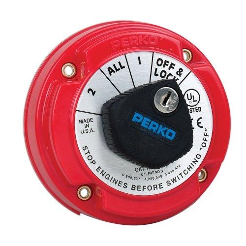 PERKO Perko 8504DP Medium Duty Battery Selector Switch w/Alternator Field Disconnect & Key Lock / 8504DP /