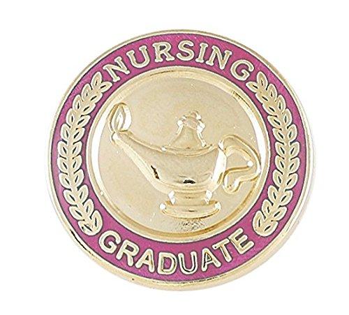 - Nursing Pin- Graduation Pinning Ceremony for Nurses (RN, MSN, BSN, CNA etc) Pink Enamel Pin (Value Pack) (5 pins)