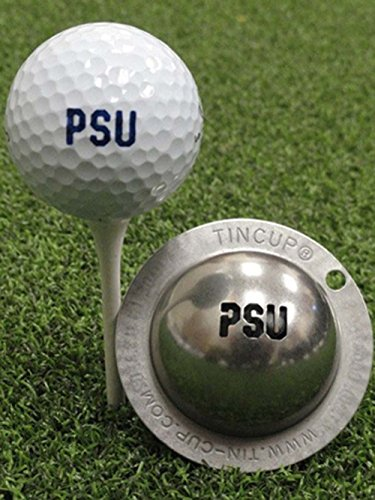Tin Cup Penn State University Golf Ball Custom Marker Alignment Tool (Balls Golf Ball Logo State)