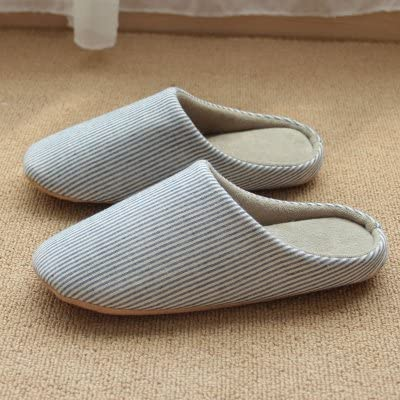 Comfortable Slipper Mens Cotton Slippers Home Skid in Autumn and Winter The Mute Soft Keep Warm Slippers Fashion for Men