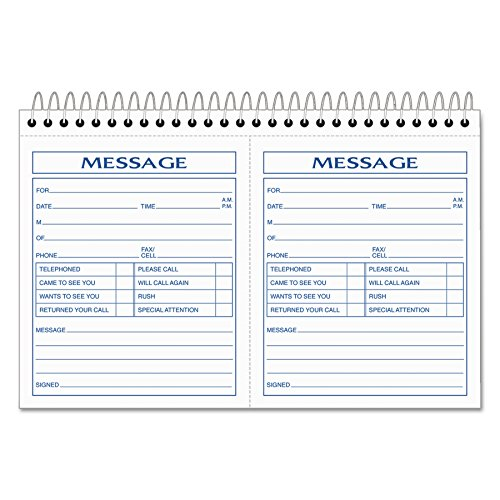 TOPS Phone Message Forms Book, Carbonless Duplicate, 4.25 x 5 Inches, 200 Sets per Book (4007) ()