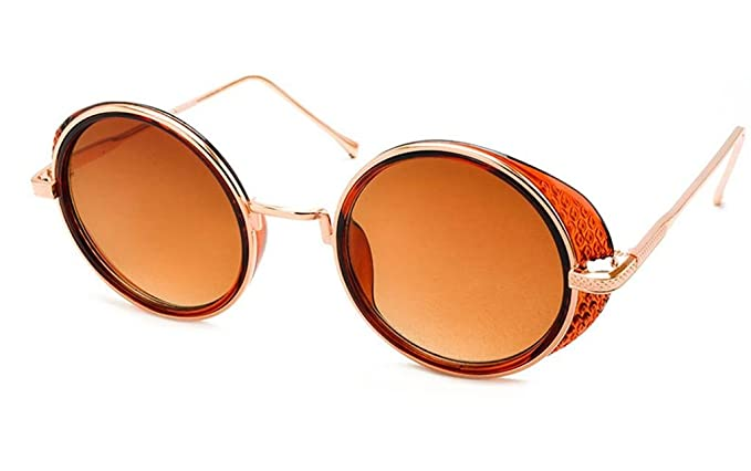 8707acdb19 Stacle Steampunk Side Shield Round Women s Sunglasses (ST1000