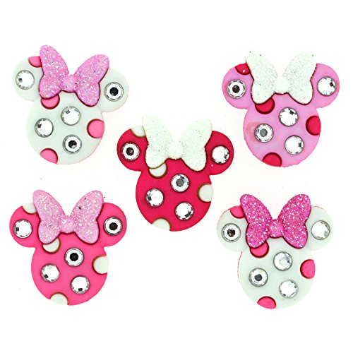 Dress It Up Disney Button Embellishment 8955 Minnie Rhinestone Heads]()