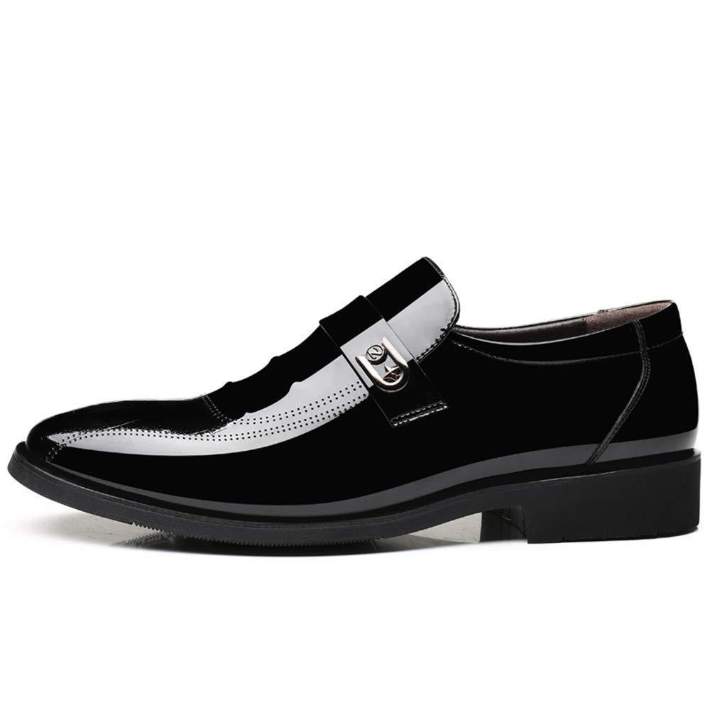 2018 Männer Business Oxford Casual und Schnür-Stil und Casual Fuß Stil Lackleder Formelle Schuhe (Farbe   Lace braun, Größe   42 EU) (Farbe   Schwarz, Größe   40 EU) 540ea4