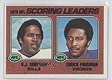 O.J. Simpson; Chuck Foreman (Football Card) 1976 Topps #204