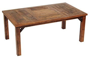 Amazoncom Rustic Wood Dining Table 84 in L Tables
