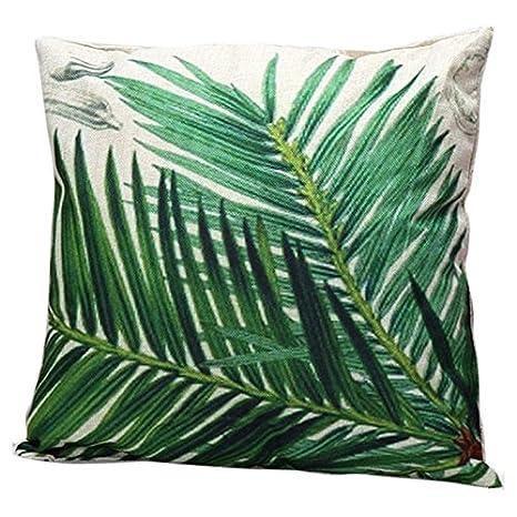 MAYUAN520 Cojines Hojas Verdes Tropicales Flores Aves Loros ...